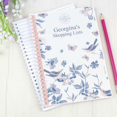 Personalised Country Diary Blue Blossom Notebook